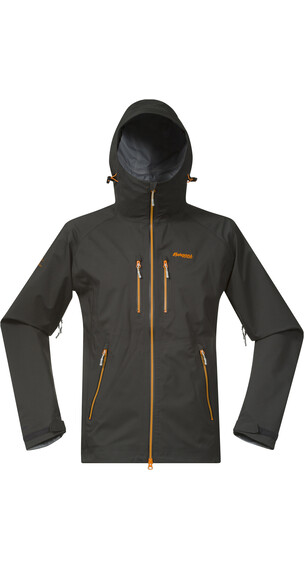 Bergans M's Eidfjord Jacket Solid Charcoal/Pumpkin/Alu